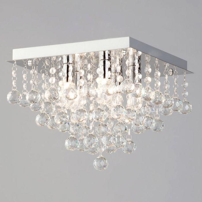 tampa large bathroom flush ceiling light chrome