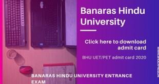 BHU Admit Card 2020