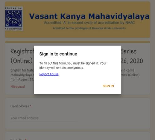 VKM Registration