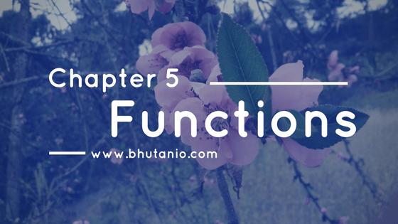 Functions by THE BHUTAN IO