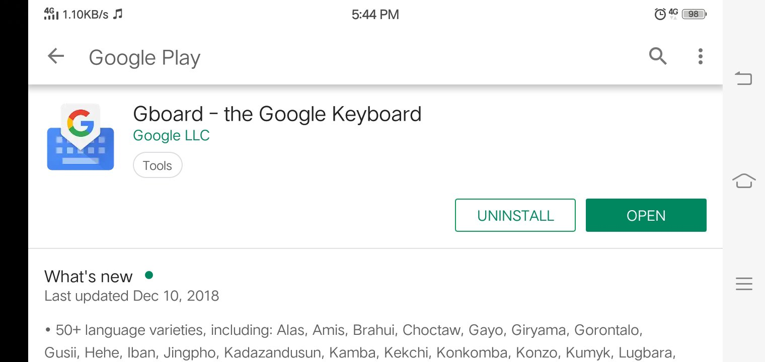 Gboard, the Google's Keyboard