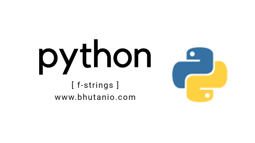 F-strings in Python
