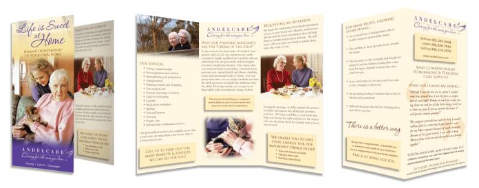 Andelcare tri-fold brochure