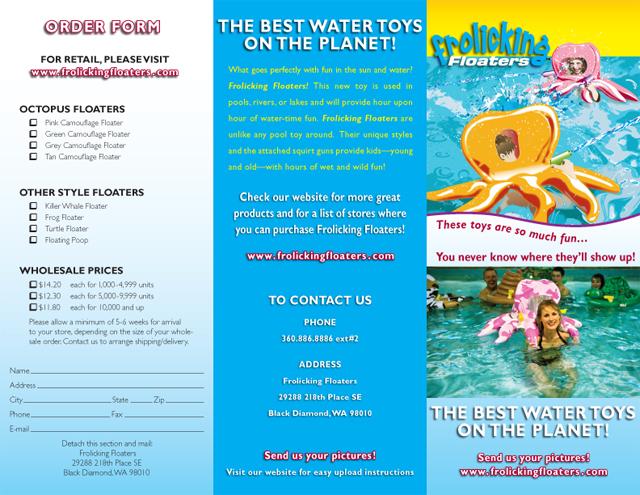 Frolicking Floaters brochure (exterior)