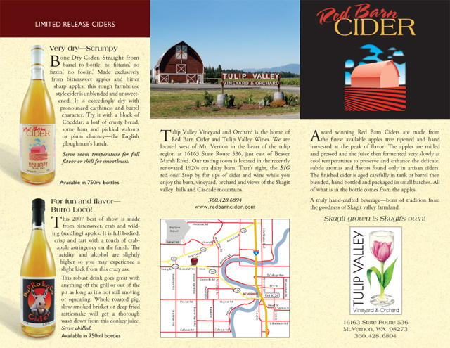 Red Barn Cider brochure (exterior)