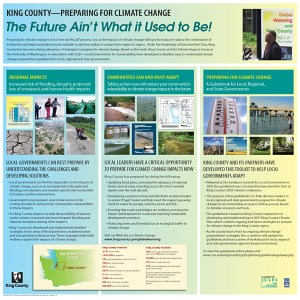 King County Climate Change poster