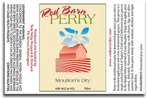 Red Barn Perry label