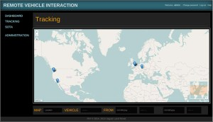 RVI application tracking interface
