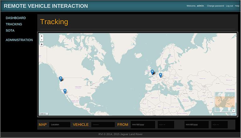 RVI application tracking interface