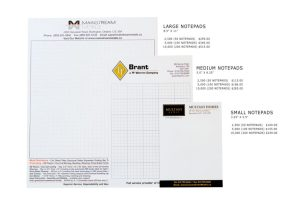 note sheets