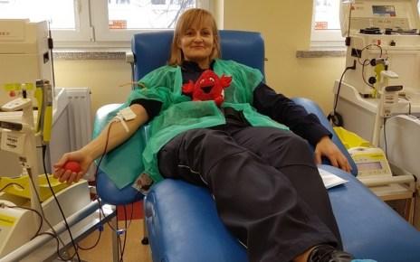 akcja oddawania krwi w międzyrzeckim komisariacie