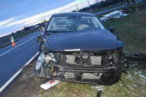 Nieustąpienie pierwszeństwa przejazdu prawdopodobną przyczyną wypadku w Sapiehowie