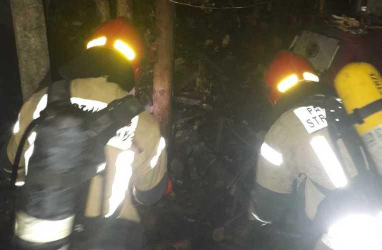 Pożar w piwnicy w Julkowie