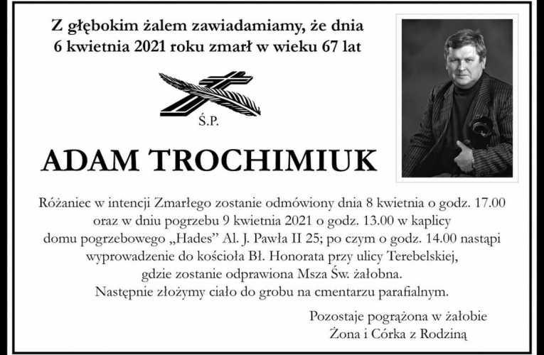 Pożegnanie Adama Trochimiuka