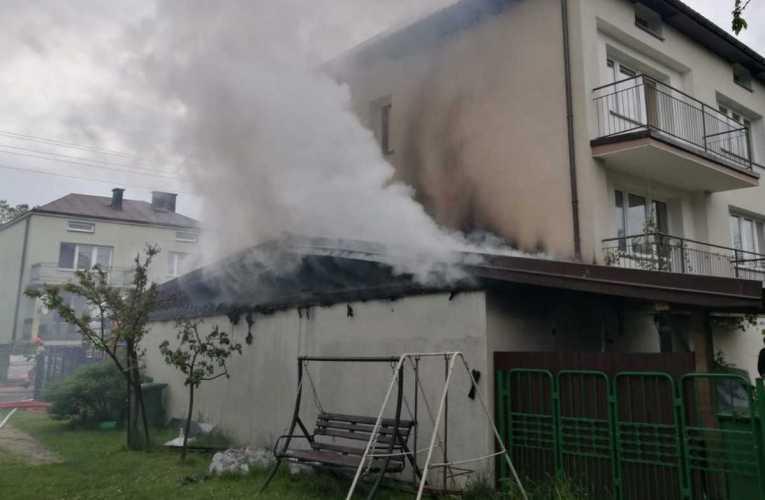 Pożar budynku garażowo–gospodarczego