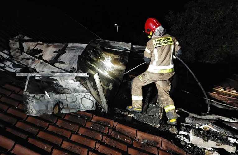 Pożar budynku mieszkalnego w Międzyrzecu Podlaskim