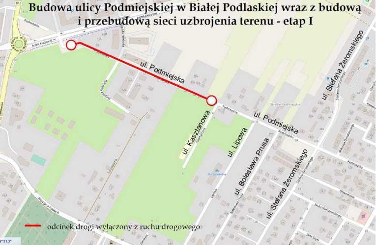 Wyłączeniu z ruchu drogowego odcinka ulicy Podmiejskiej