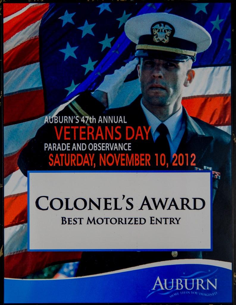 2012 Colonel's Award