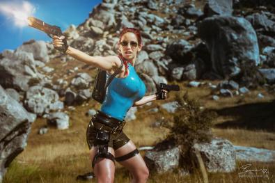Lara Croft cosplay in New Zealand