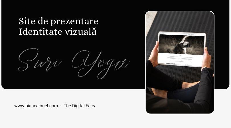SuriYoga.ro - povestea unui site de prezentare pentru studio Yoga