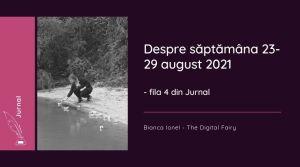Fila 4 de jurnal - despre săptămâna 23-29 august 2021 de programator bianca ionel august 2021