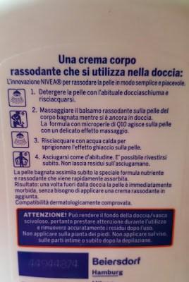 Q10plus Balsamo Corpo Sotto la Doccia Rassodante
