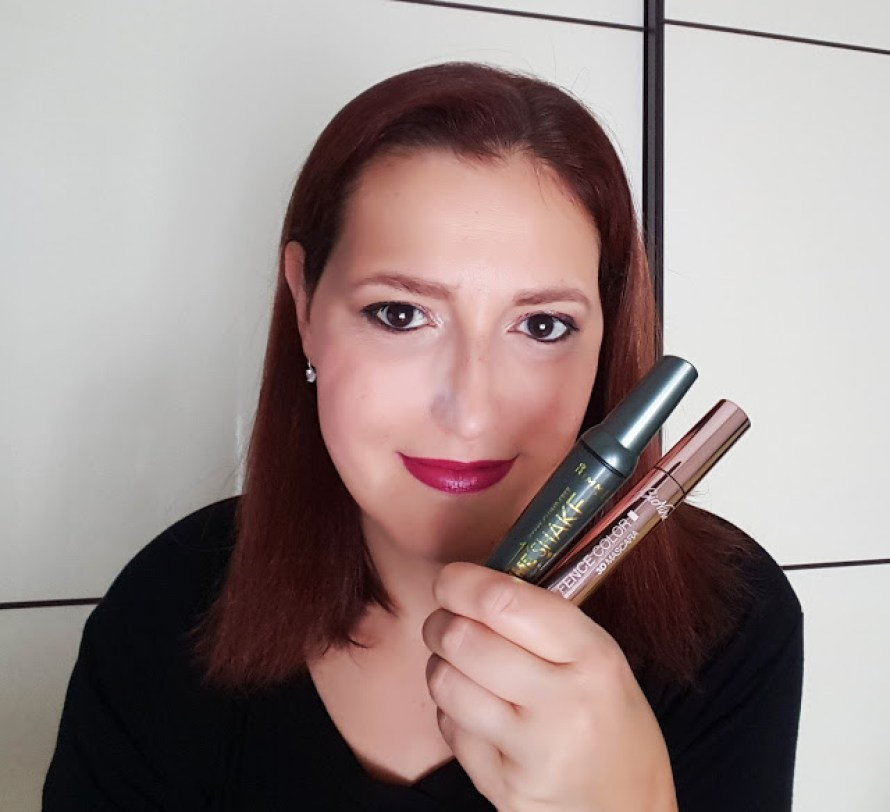 Defence Color 3D mascara (Bionike) e Volume Shake (Rimmel London)