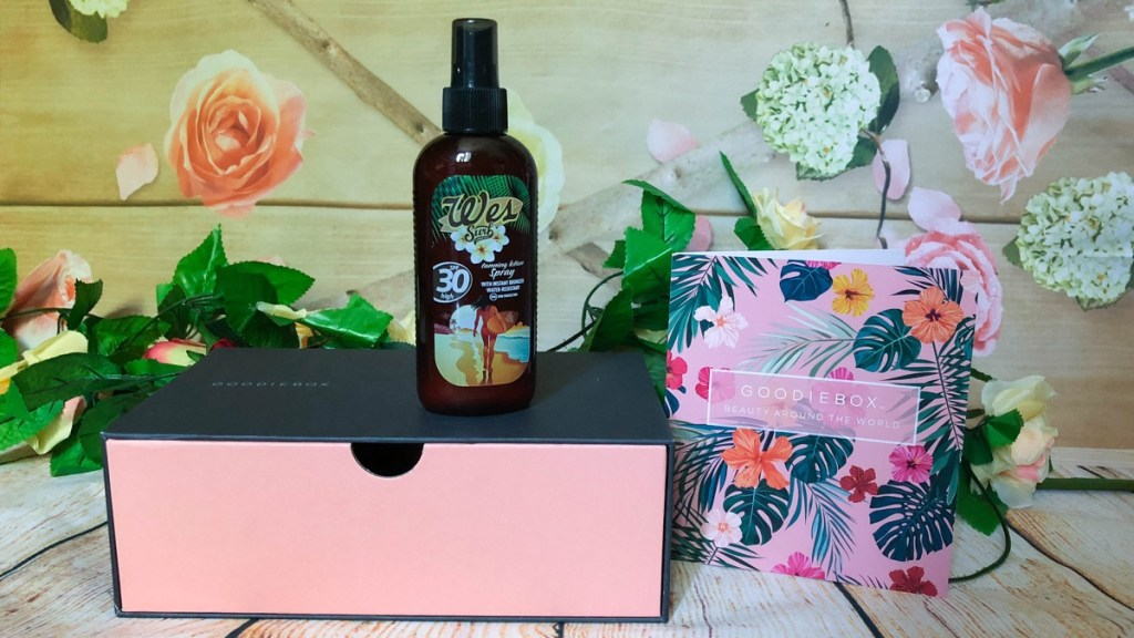 WES surf tanning lotion spf 30 Goodiebox juli 2018