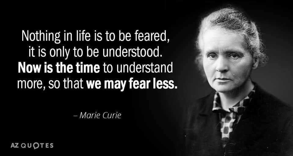Madam currie quote 30 dagen schrijven challenge