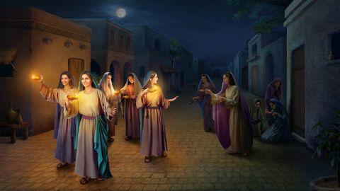 luna,Lampada,ragazze,sera