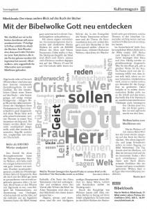 Artikel im katholischen Sonntagsblatt der Diözese-Rottenburg Stuttgart, Februar 2013