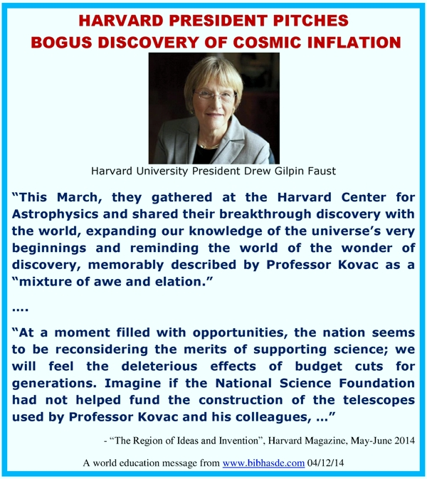 Harvard inflation and gravitational wave discovery scam the harvard president drew gilpin faust john kovac harvard center for astrophysics bicep2 telescope south pole cmb discovery cosmic inflation gravitational publicscrutiny Images