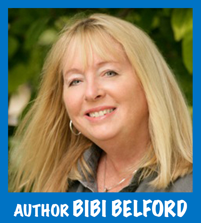 "Photo of Bibi Belford, author of ""Canned and Crushed"" and other middle grade fiction."