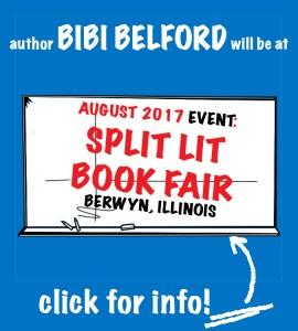 Author Bibi Belford at SPLIT LIT book fair August 27 2017