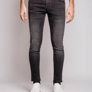 WHY NOT - Jeans grigio scuro rotture