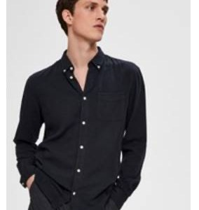 SELECTED - Camicia tasca nera