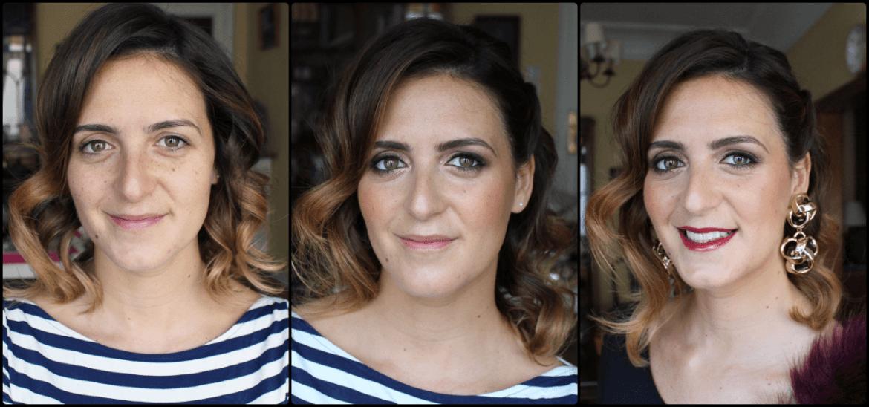Maquillaje a Virginia - Boda inspirada en el Studio 54