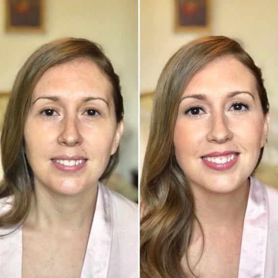 Novia Yvette - Antes y después productos Bobbi Brown