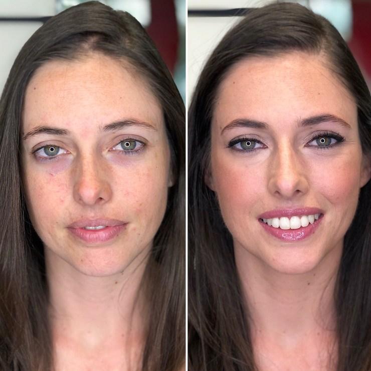 Novia Carolina, antes/después - Bobbi Brown