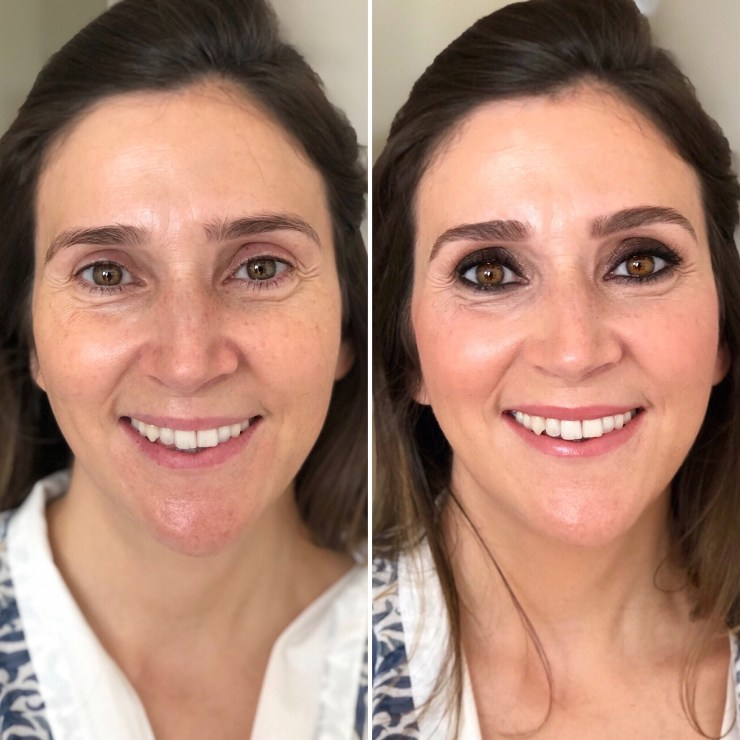Antes y después Beatriz - Bobbi Brown .