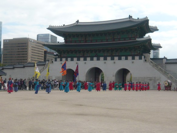 The changing of the guard at Gyeongbokgung Palace