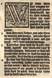 A page from the Bishops' Bible, 1568