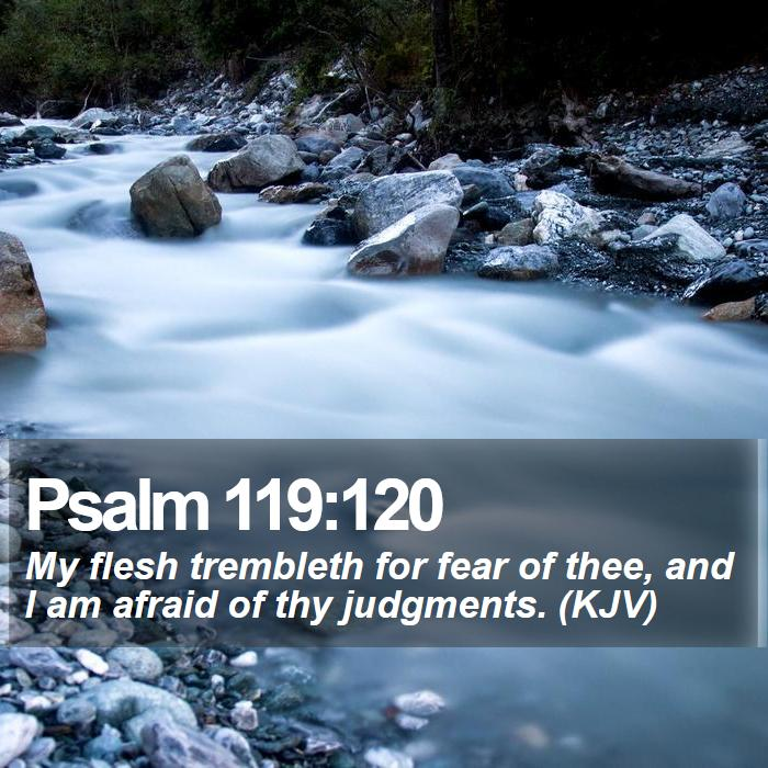 Image result for Psalm 119:120 KJV