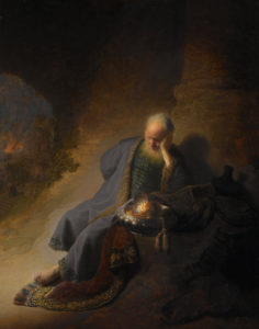 Rembrandt, Jeremiah Lamenting the Destruction of Jerusalem, c. 1630
