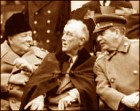 Churchill, Roosevelt and Stalin, at the Yalta
