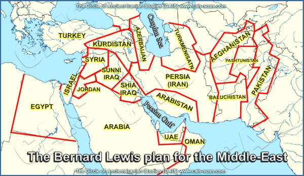 Yinon/Lewis Plan for division of Middle East
