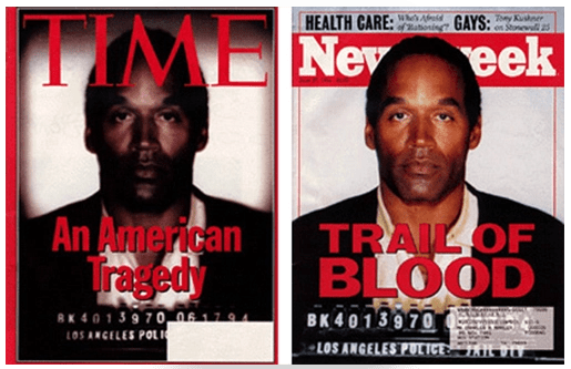 Bias in photos and cover verbiage