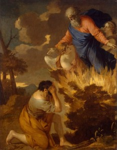 Moses and the Burning Bush - Sebastien Bourdon (17th century)