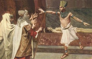 Aaron, Moses, Pharaoh, and his dead son - James Jacques Joseph Tissot (1896-1902)