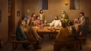 Jesus and the Twelve Disciples at a table